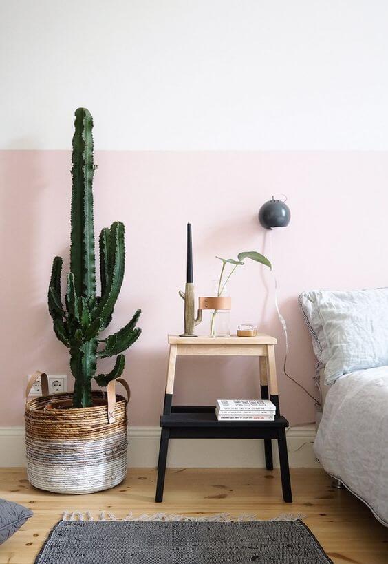 Cores de tintas cor de rosa para quarto
