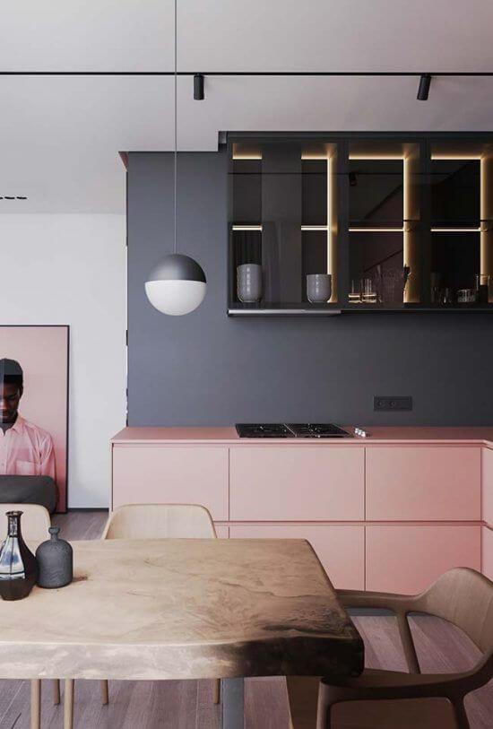 Cozinha com cores de tintas neutras
