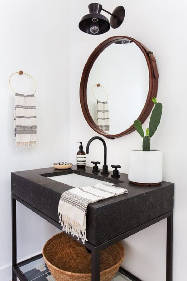 cuba para lavabo decorado com estilo antigo Foto When Sara Smiles