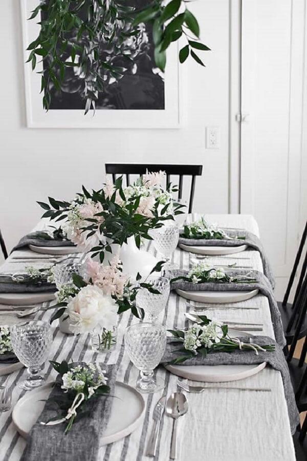 decoração dia das mães mesa de almoço