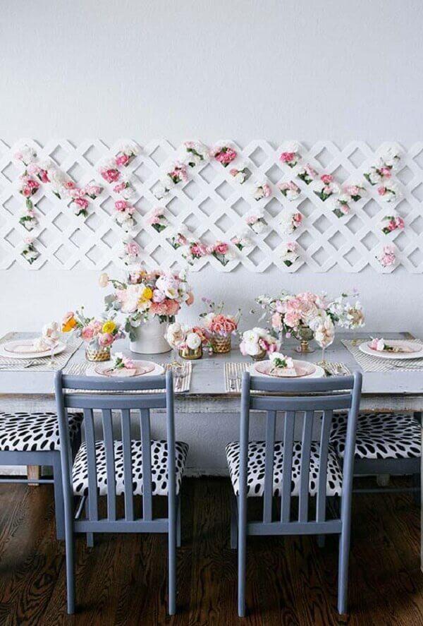 decoração dia das mães para mesa de café ou almoço