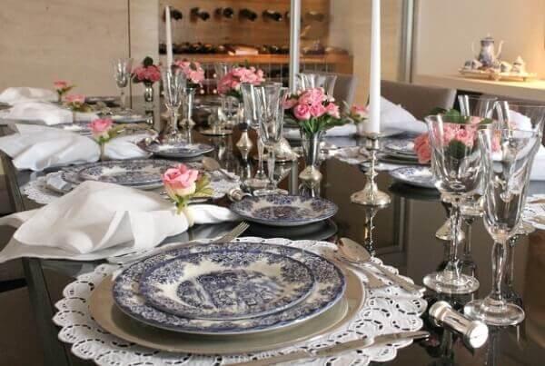 decoração dia das mães para mesa grande