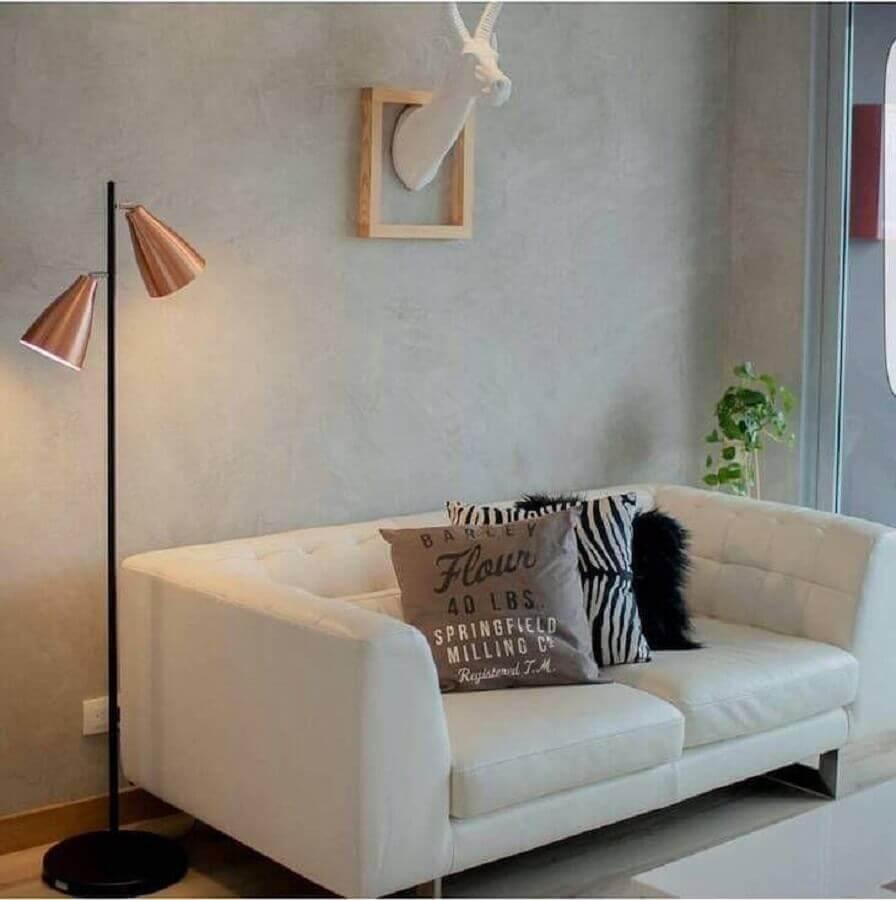 decoração em cobre para sala pequena Foto Fokuss