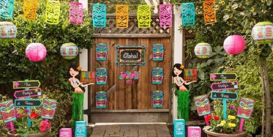 decoração festa havaiana luau Foto Decor Ideas