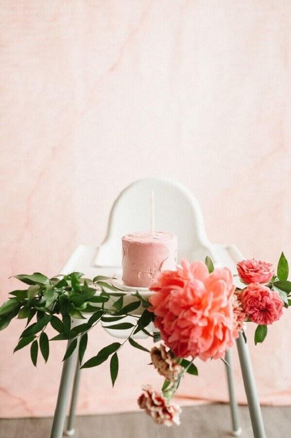 decoração mesversário feminino em tons de rosa Foto Neu dekoration stile