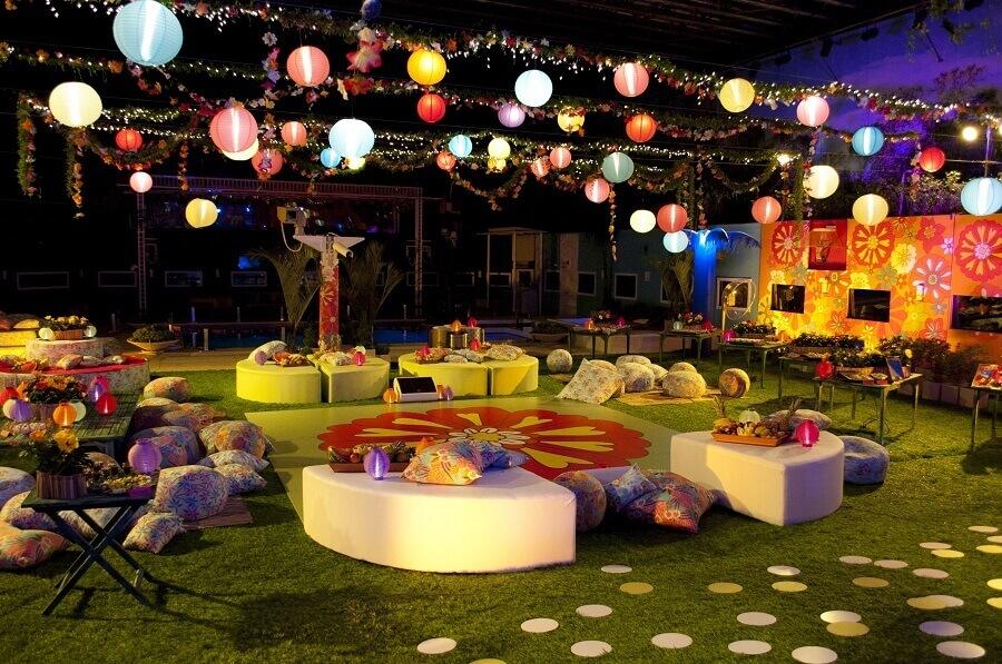 decoração para festa luau de noite Foto Pinterest