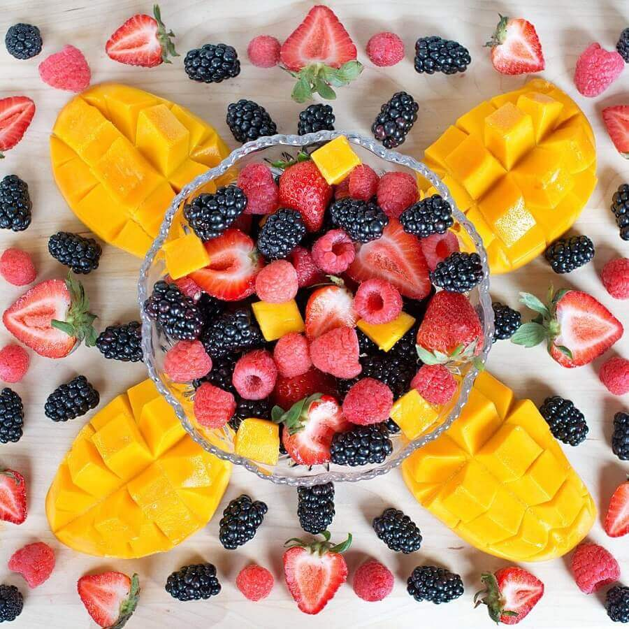 ideia para decoração de mesa de frutas simples Foto Neu dekoration stile
