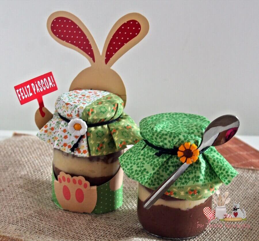 lembrancinhas de páscoa com potinhos personalizados para doce Foto Toda Atual