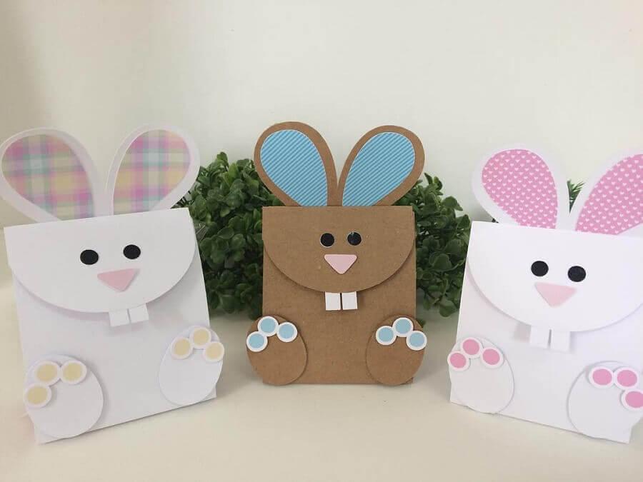 lembrancinhas de páscoa com sacolinhas em formato de coelho Foto Mariana Ribeiro