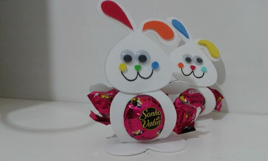 lembrancinhas de páscoa para escola com coelhinhos de papel Foto Tesoura Cola e Cia
