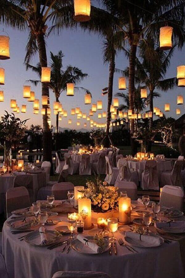 luminárias para decoração de festa luau Foto Wannabe Bride
