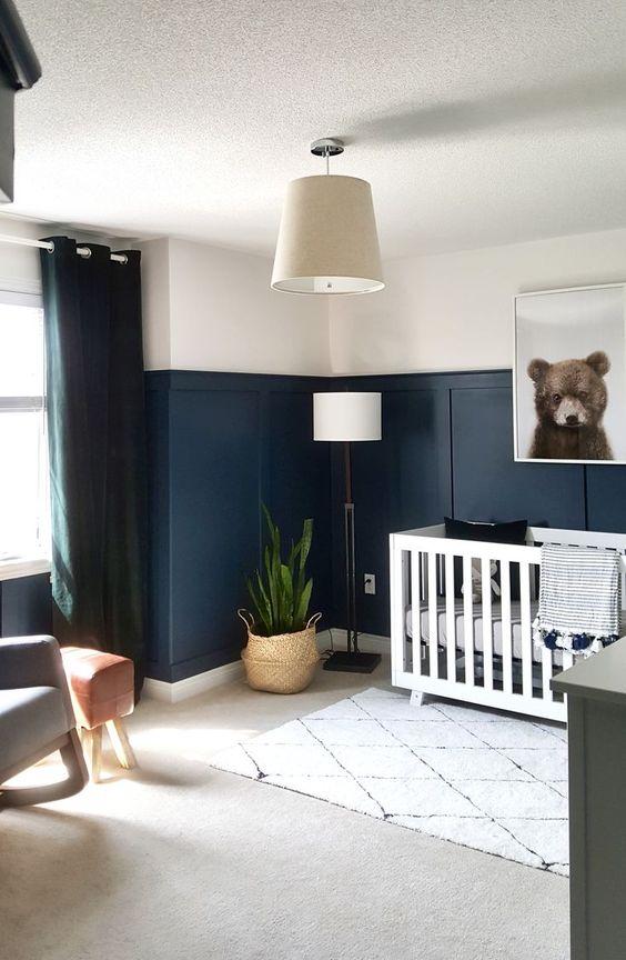 Lustre para quarto de bebê chique