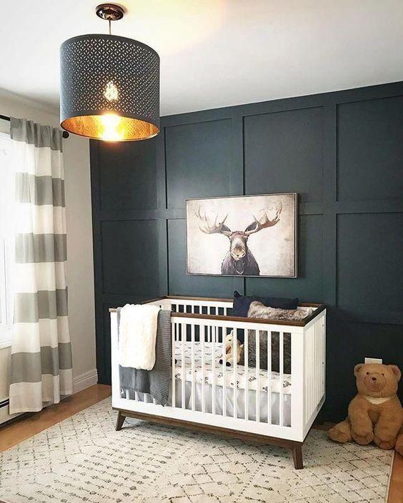 Lustre para quarto de bebê cinza