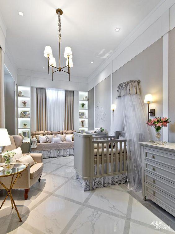 Lustre para quarto de bebê estilo provençal