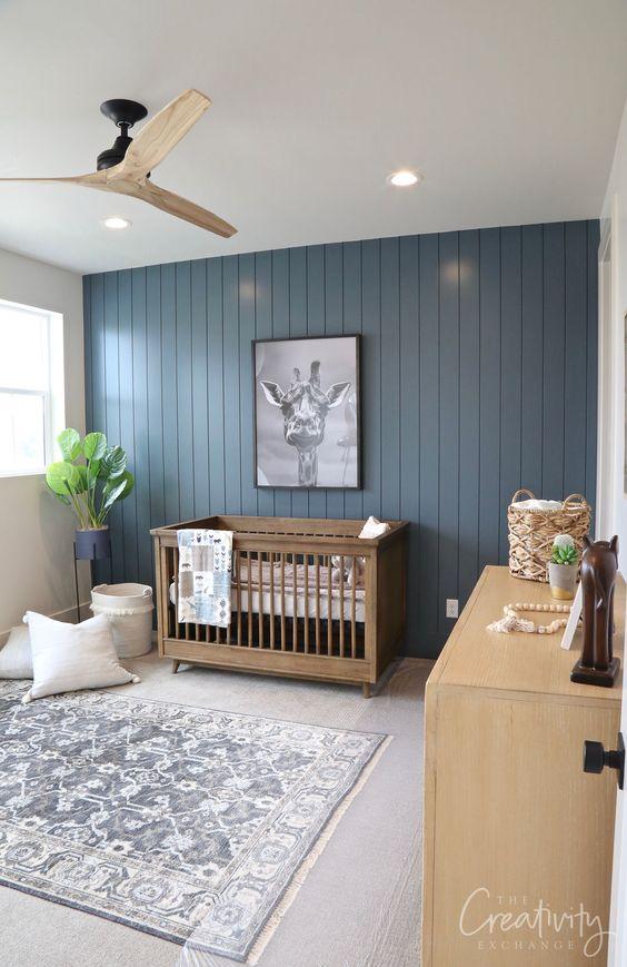 Lustre para quarto de bebê com ventilador