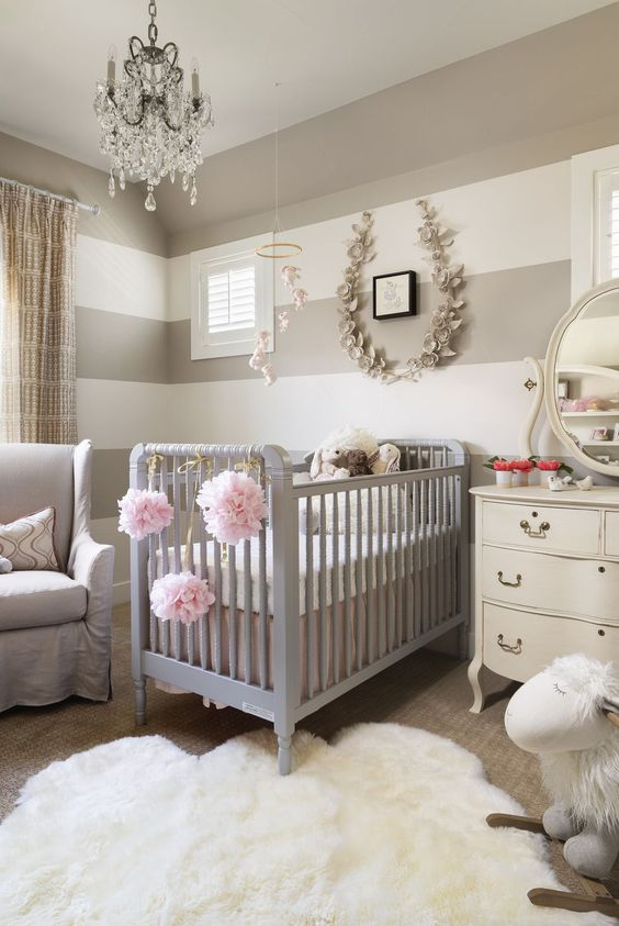 Lustre para quarto de bebê de cristal