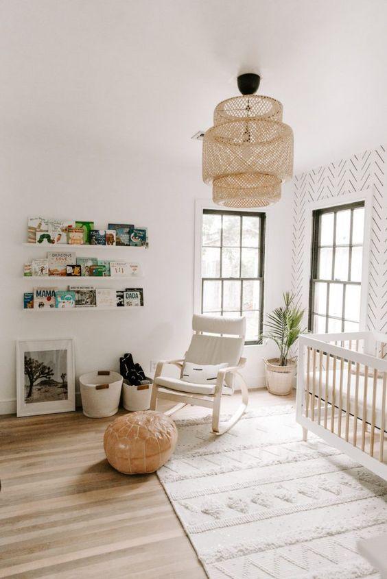 Lustre para quarto de bebê rústico