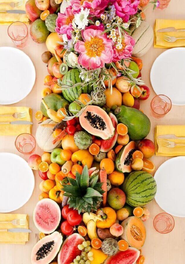 mesa de frutas para casamento Foto Pinterest
