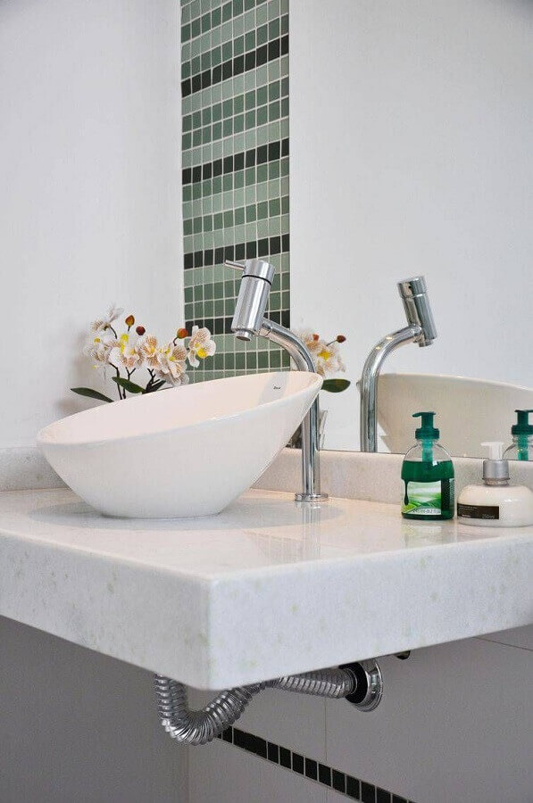 modelo de cuba pequena para lavabo Foto Aaron Guide