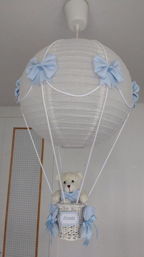 modelo de lustre balão para quarto de bebê masculino  Foto Lampara Globo
