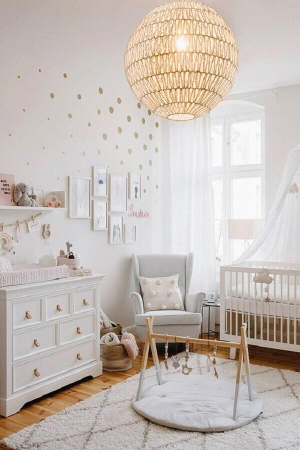 modelo de lustre para quarto de bebê todo branco Foto De Decoration Maison