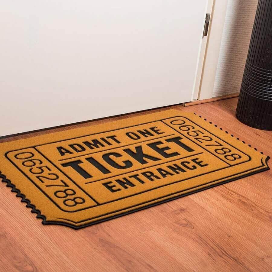 modelo de tapete capacho divertido Foto Abeja reina