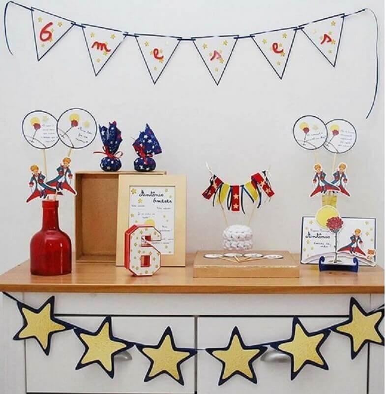 pequeno principe para tema de mesversário decorado Foto Zozu