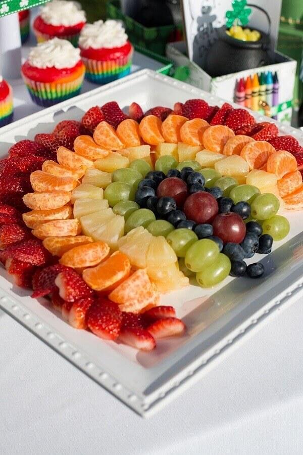 prato branco para decoração de mesa de frutas simples Foto Pinterest