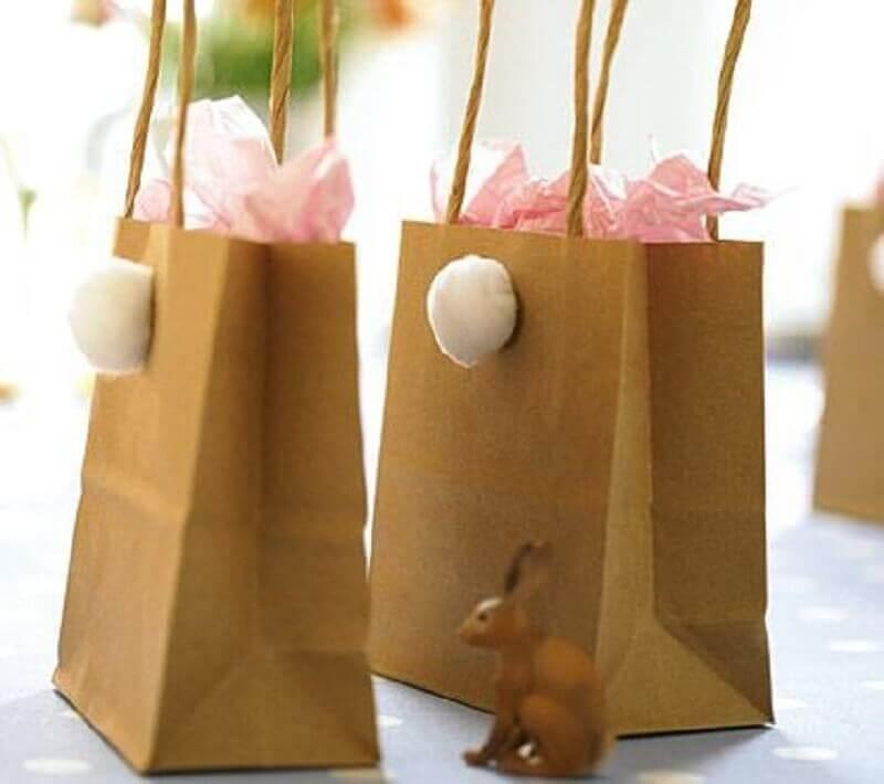 sacolinhas de papel para lembrancinhas de páscoa Foto Bagagem de Mãe