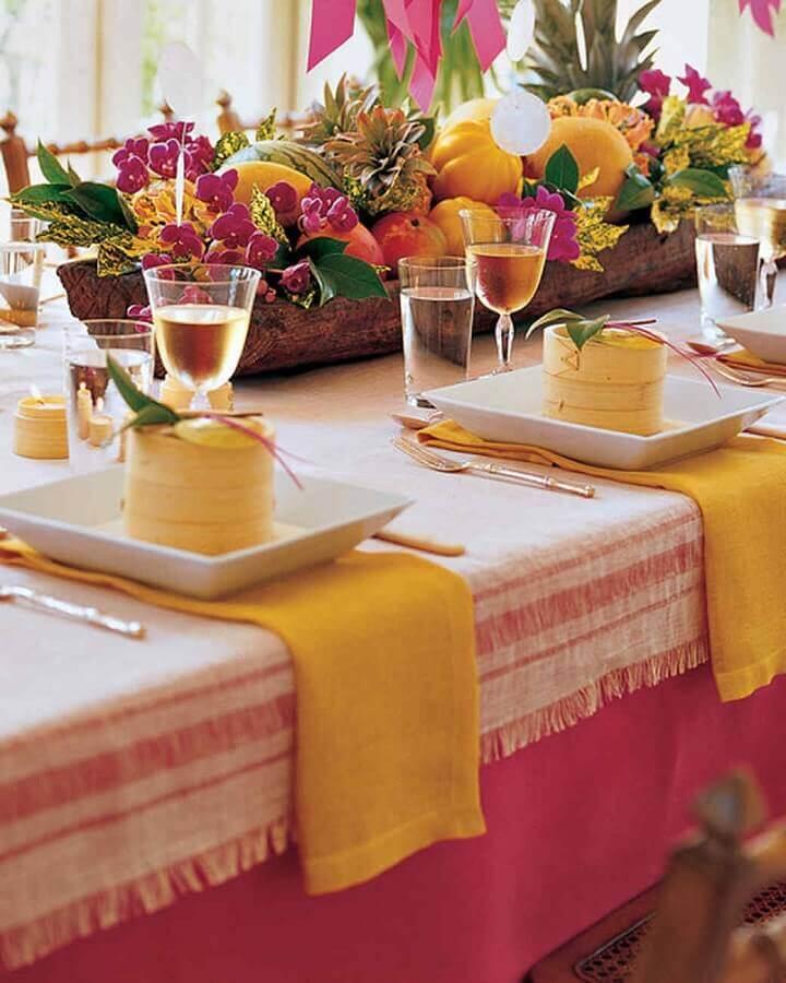 suporte de madeira rústica para mesa de frutas para casamento Foto Why Santa Claus
