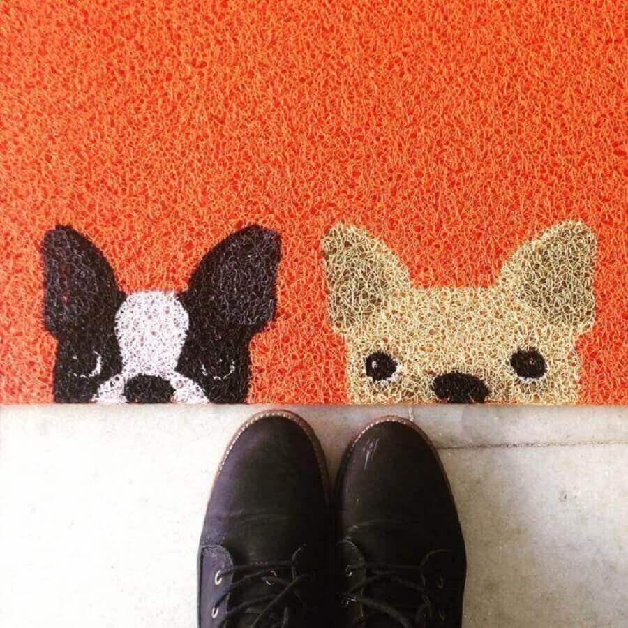 tapete capacho divertido com estampa de cachorrinhos Foto Pinterest
