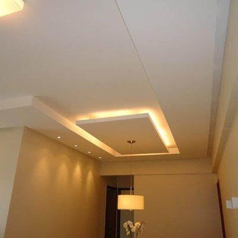 teto de gesso com iluminação de led Foto Pinterest
