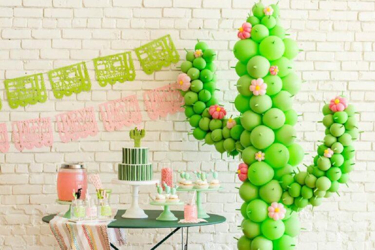 A festa de aniversário com tema de cacto faz sucesso entre o público