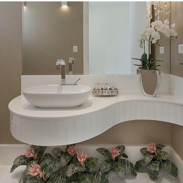 As plantas para banheiro decoram o lavabo