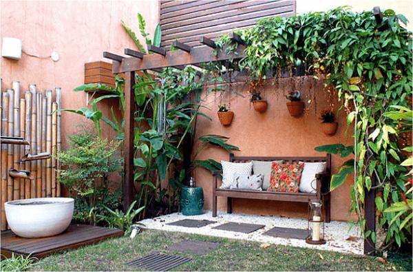 Caramanchão para colocar plantas