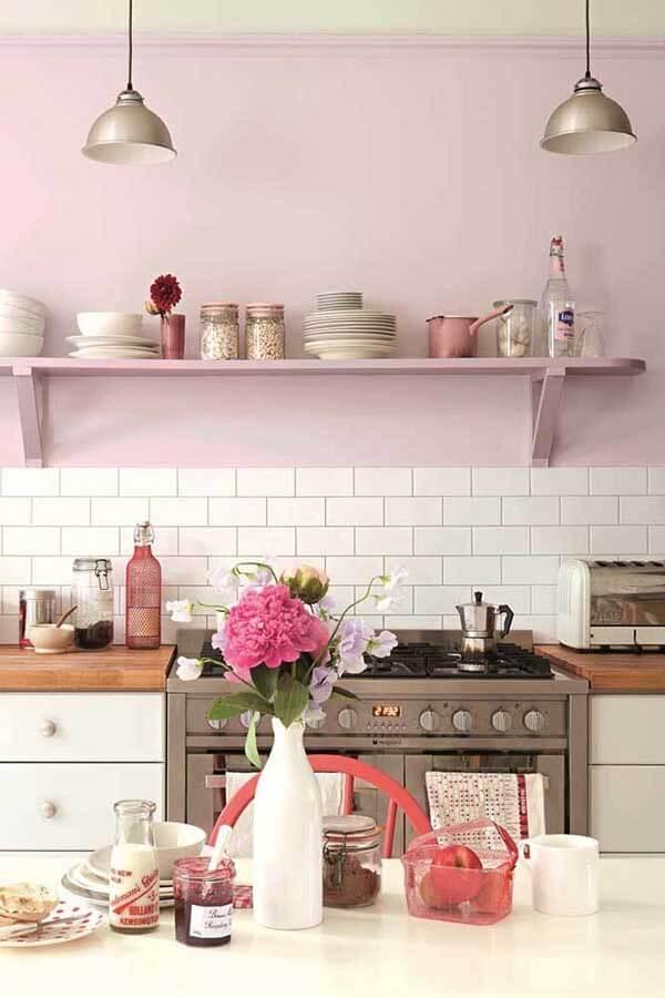 Cor lilás na decoração de cozinha