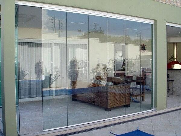 Cortina de vidro para residencia