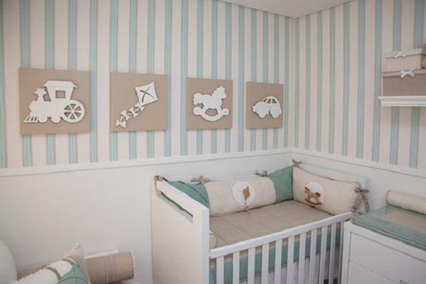 Decoração de quarto simples de bebê