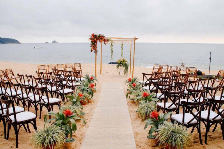Decoração especial para casamento ao ar livre