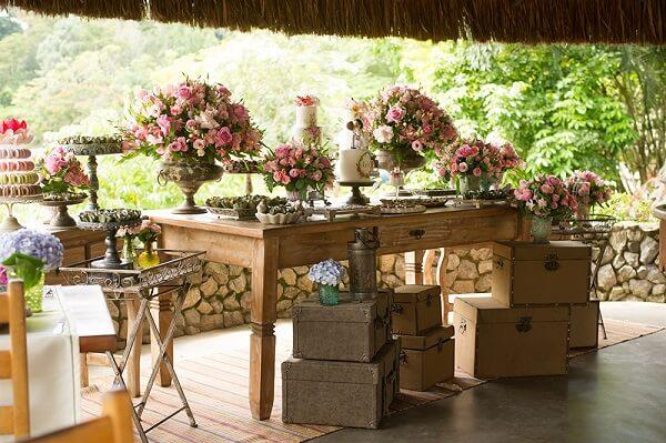Decoração vintage casamento em tons pastéis