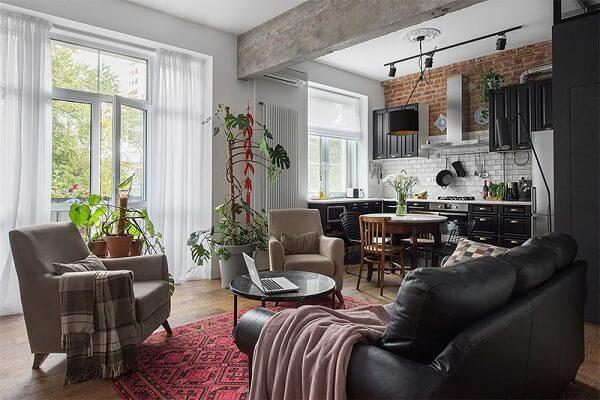 Decoração vintage para apartamento pequeno