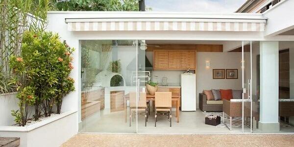 Edícula com churrasqueira na residência