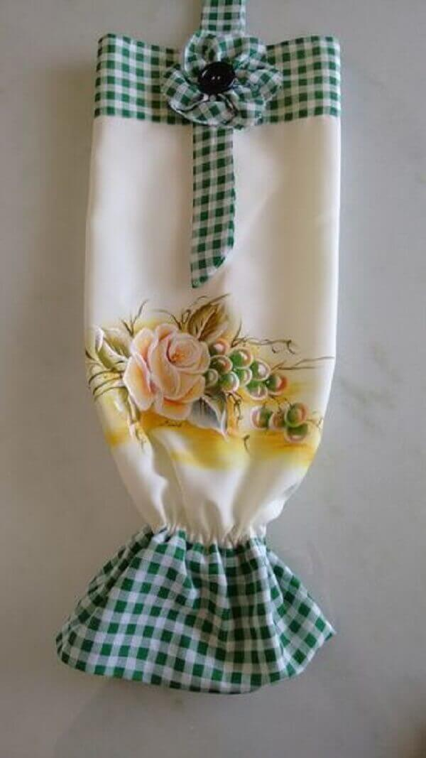 Estampa de flores para o puxa saco de tecido