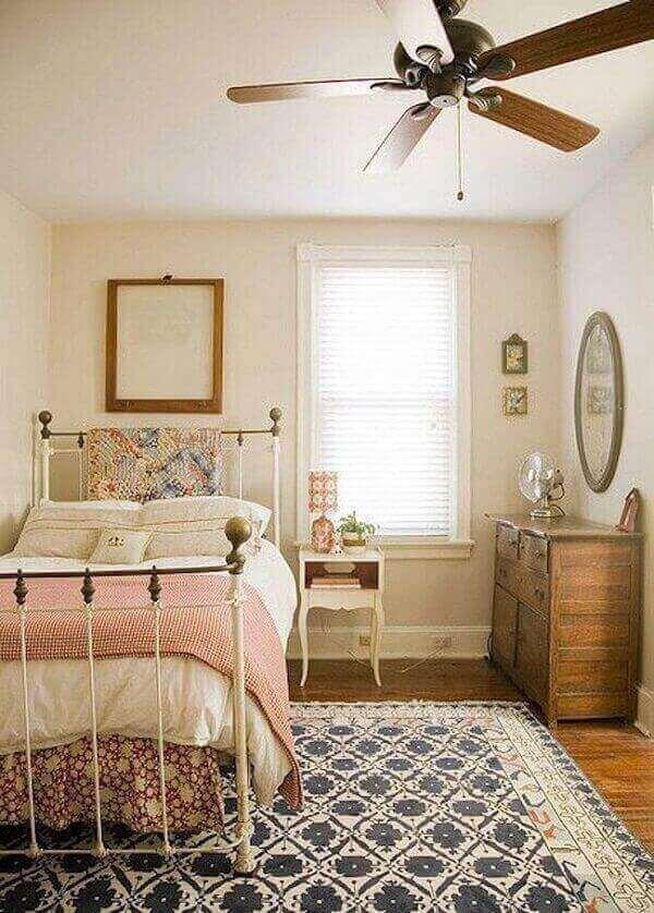 Estilo de decoração vintage para quarto
