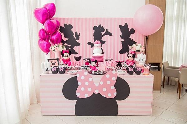 Festa da minnie rosa para poucos convidados