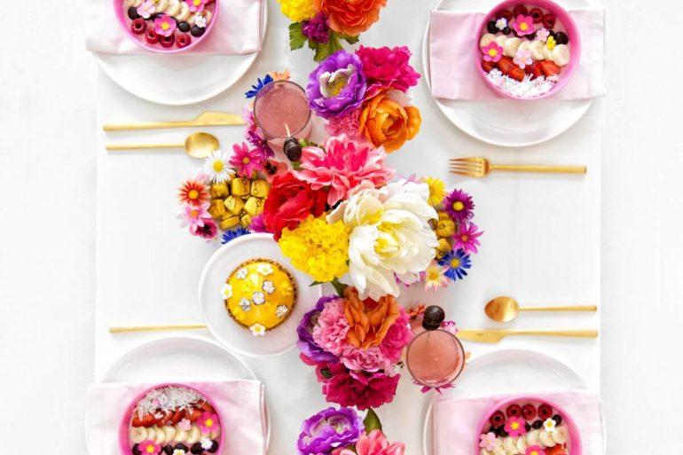 Flores nunca são demais na decoração dia das mães