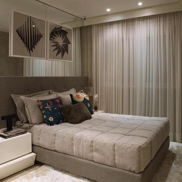 Modelos de cortinas com tons acolhedores