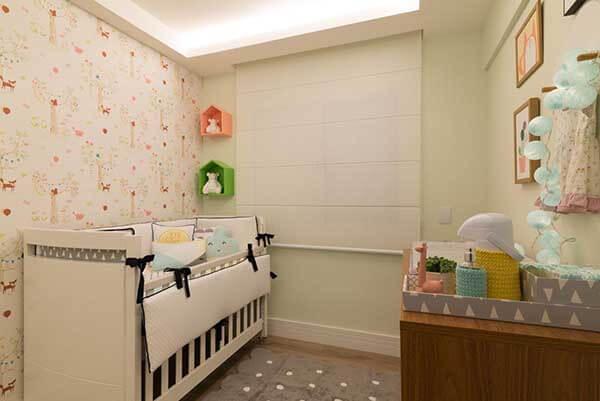 Modelos de cortinas delicadas para quarto de bebê