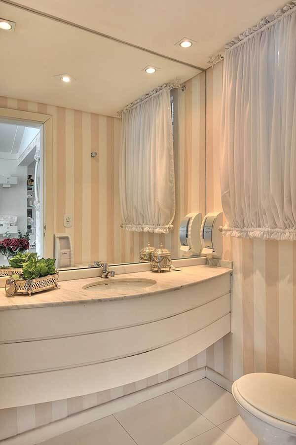Modelos de cortinas em lavabo
