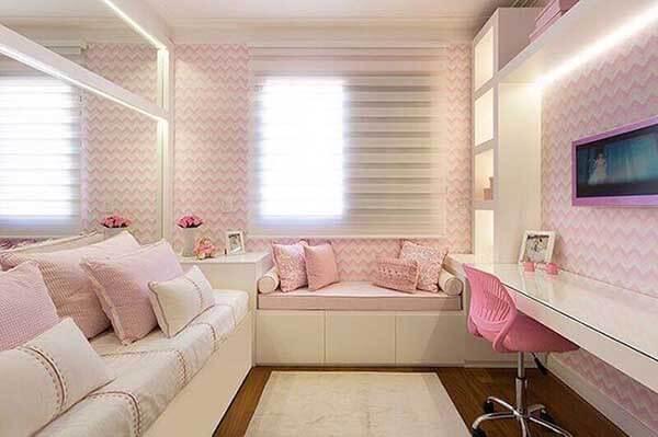 Modelos de cortinas para quarto feminino